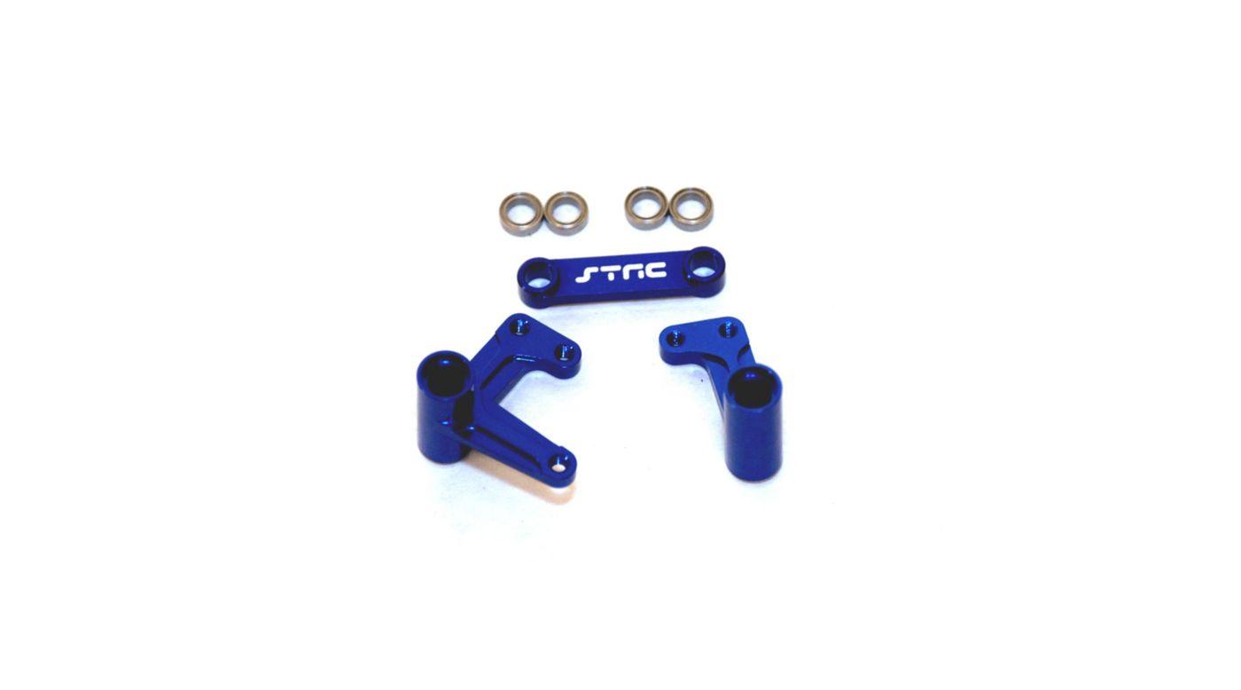 Image for Aluminum Steer Bellcrank System, Blue: Rustler Bandit Slash from HorizonHobby