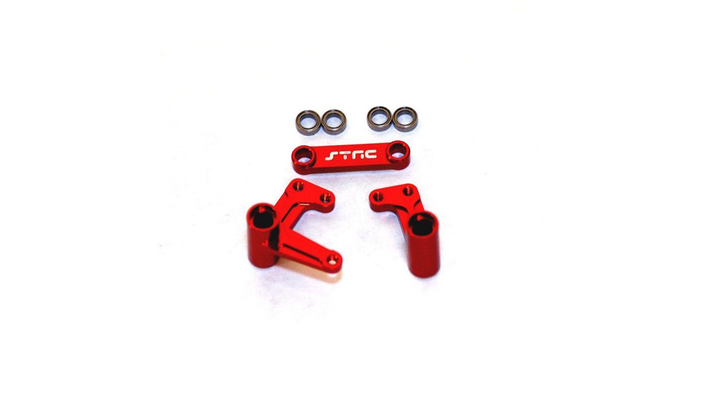Image for Aluminum Steering Bellcrank System, Red: Rustler, Bandit, Slash from HorizonHobby