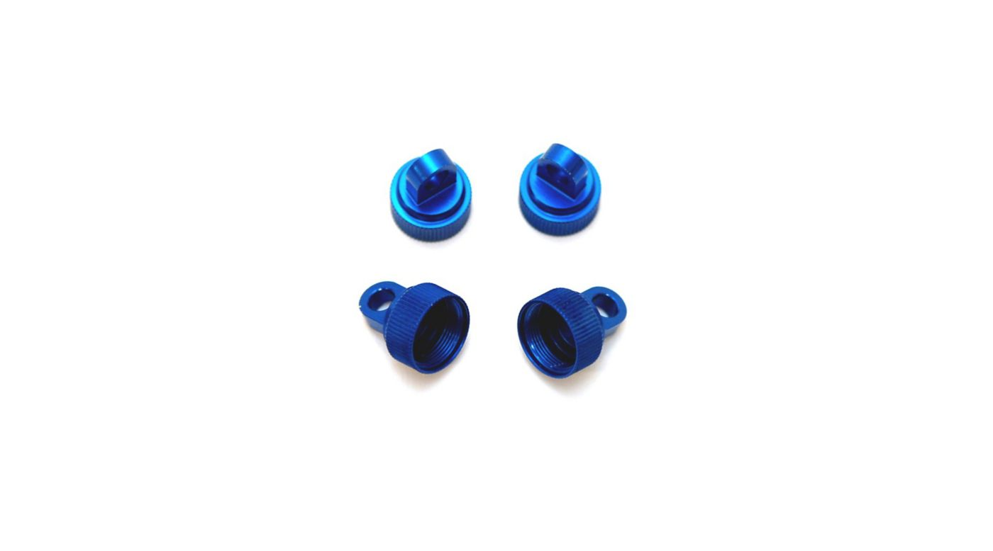 Image for Upper Shock Caps (4pc), Blue: Slash, Rustler, Stamped, Bandit, Max from HorizonHobby