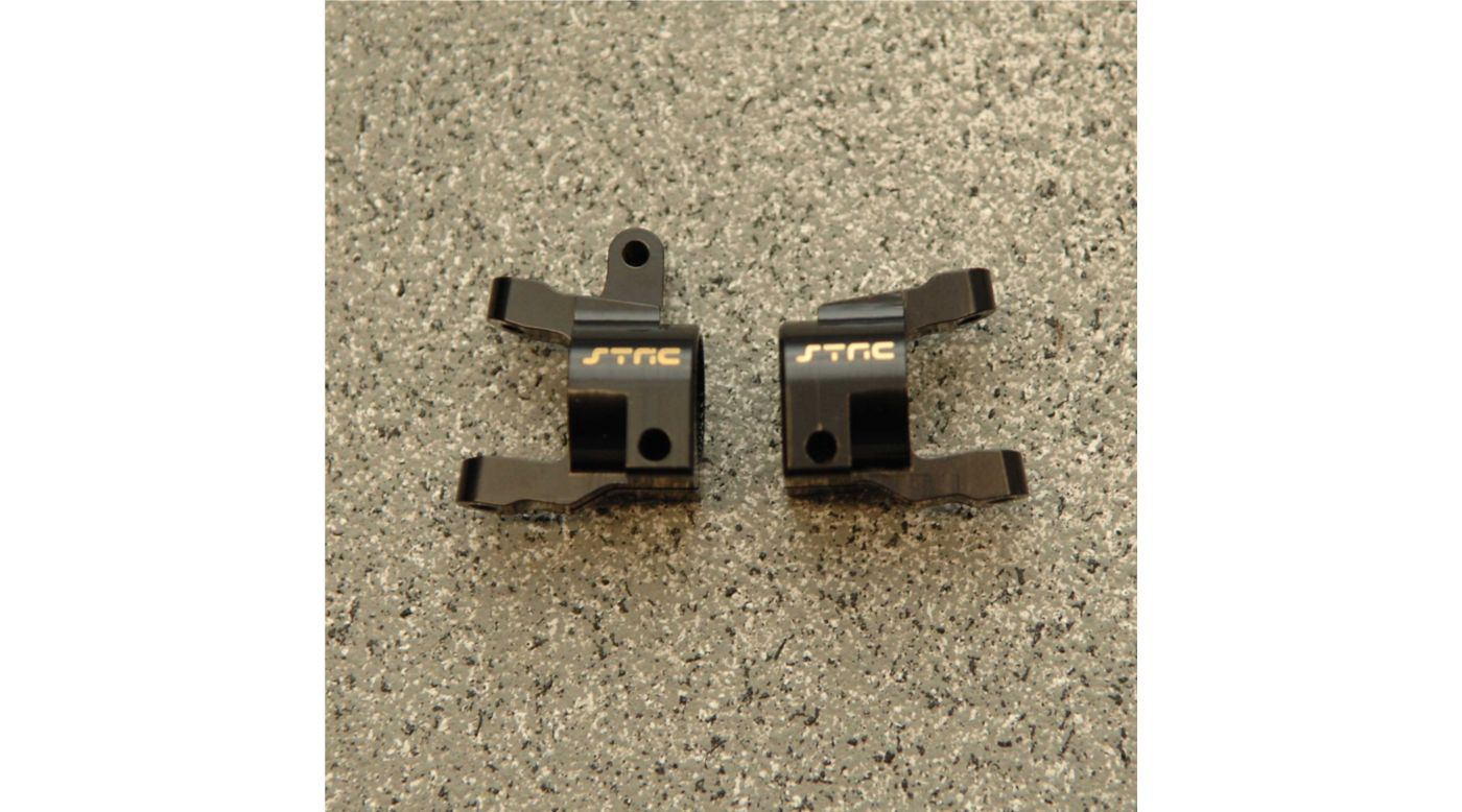 Image for Brass Front C-Hub (1pr), Black: Axial, SCX10 II from HorizonHobby