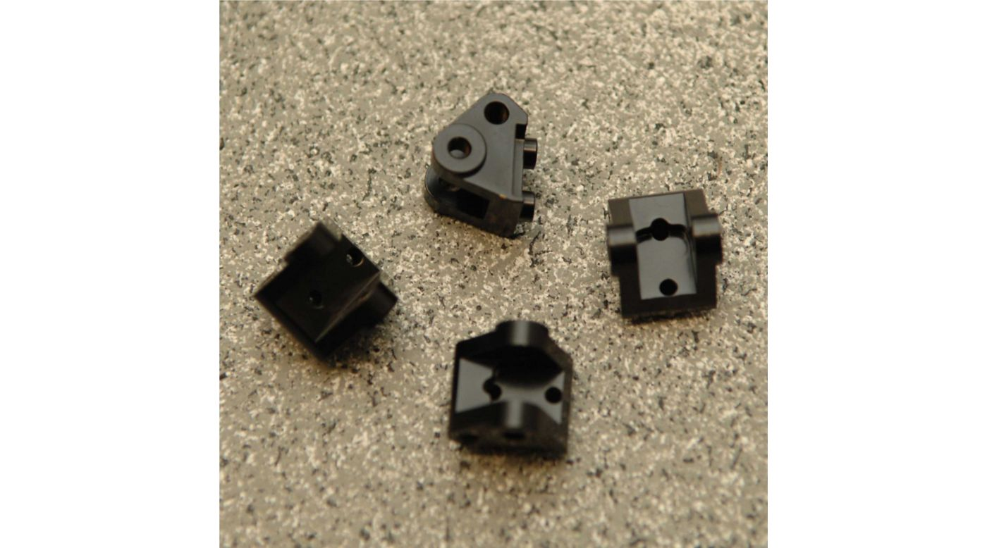 Image for Brass Lower Shock Mount (4pcs), Black: Axial, SCX10 II from HorizonHobby