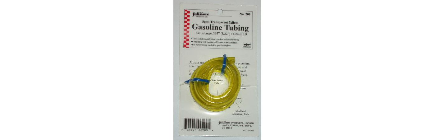 "Gas Tubing, 3', Extra-Large, 5/32"", Yellow