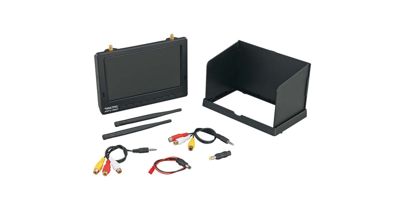 "Image for FPV-RM1 7"" HD FPV Monitor 5.8GHz Dual Receivers from HorizonHobby"