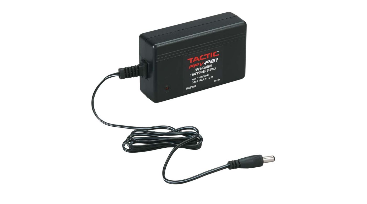 Image for FPV-PS1 FPV Monitor 110V 2.0A Power Supply from HorizonHobby