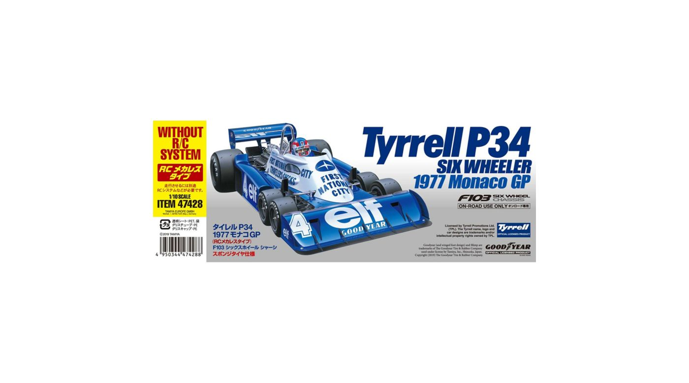Image for 1/10 1977 Monaco GP Tyrell P34 Limited 4WD Pre-Built Roller from HorizonHobby