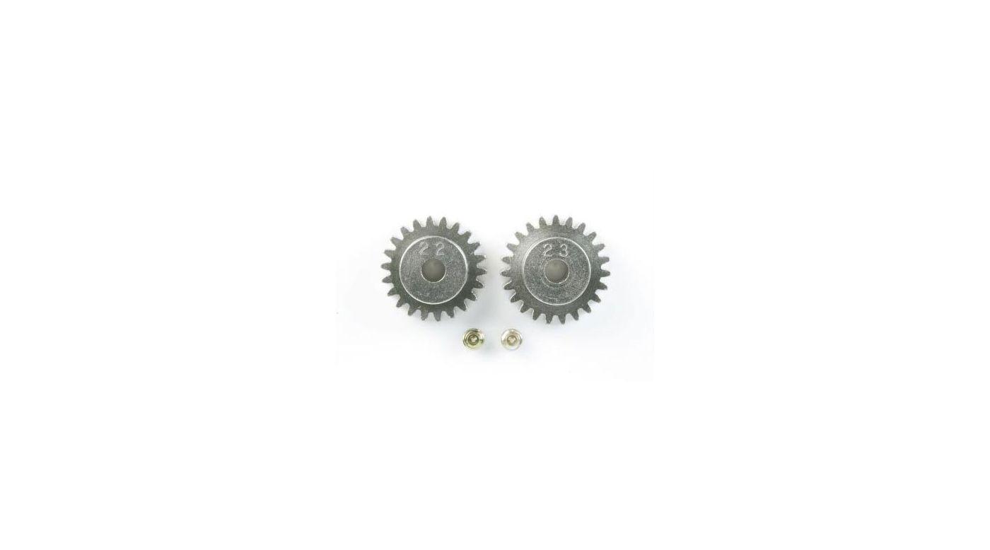 Image for AV Pinion Gear Set 22T/23T: CR01 from HorizonHobby