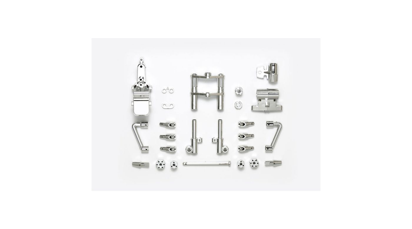 Image for T3-01 B Parts, Front Fork (Plated) from HorizonHobby