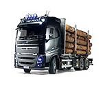 Tamiya America Inc - 1/14 Volvo FH16 Globetrotter 750 6x4 Timber Truck