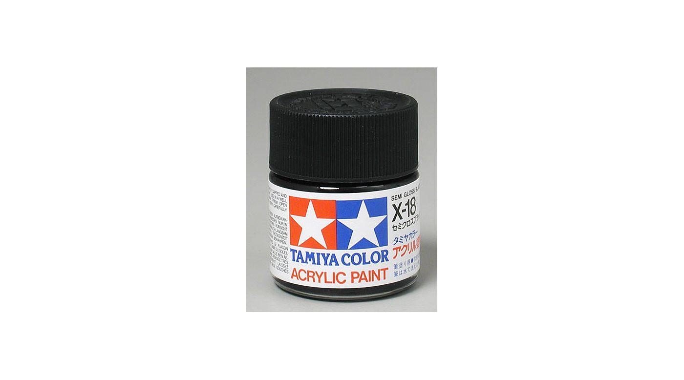 Image for Acrylic X18 Semi Gloss,Black from HorizonHobby