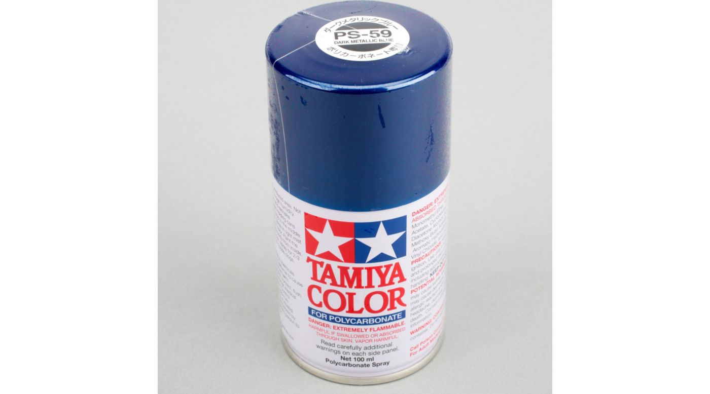 Image for Polycarbonate PS-59 Dark Metallic Blue, Spray 100 ml from HorizonHobby