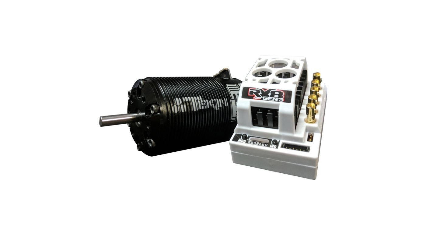 Image for 1/8 RX8 Gen3 ESC/T8 Gen3 Brushless Motor Combo, 1900kv from HorizonHobby