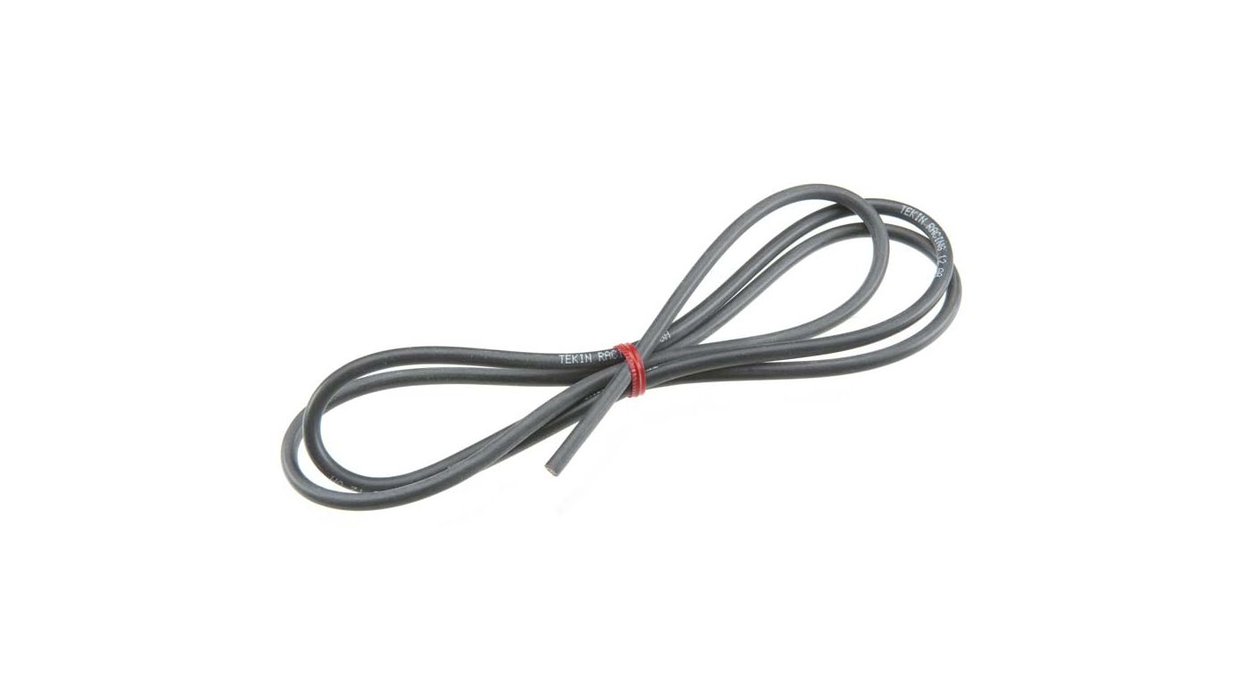 "Image for 12 AWG Silicon Power Wire 36"" Black from HorizonHobby"