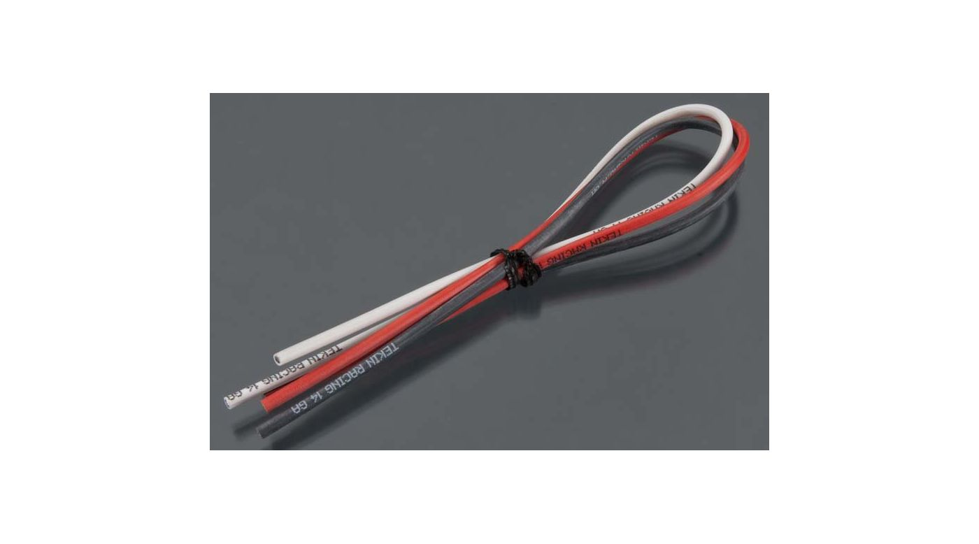 "Image for 14 AWG Silcone Power Wire 12"" Red Black White (3) from HorizonHobby"