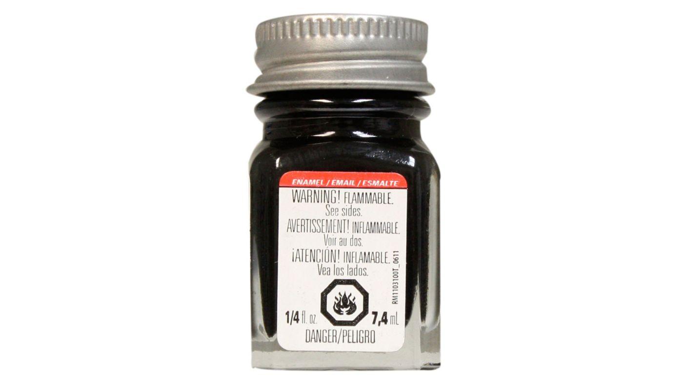 Image for Enamel 1/4 oz Semi-Gloss Black from HorizonHobby