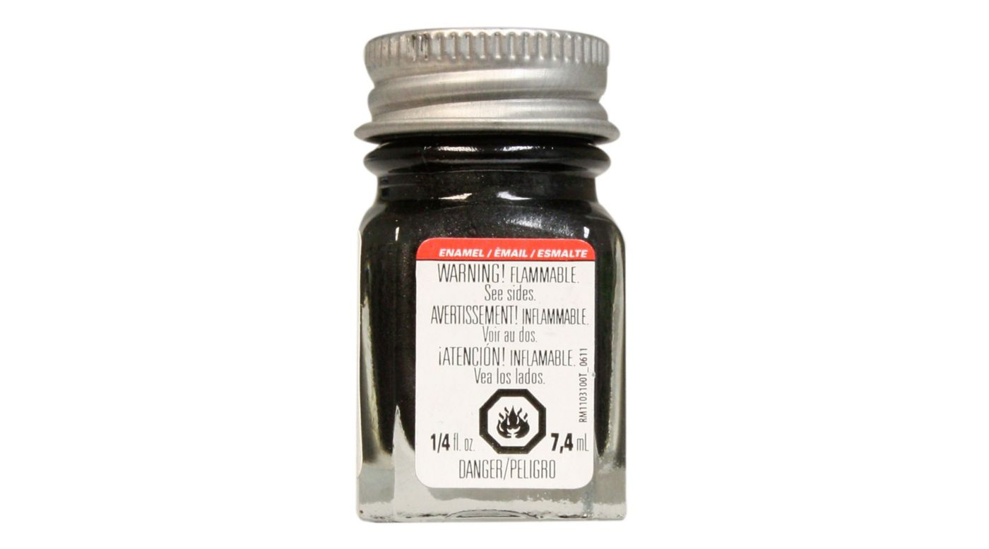 Image for Enamel 1/4 oz Graphite Gray Metallic from HorizonHobby