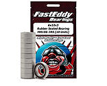 FastEddy Bearings - 6x10x3 Rubber Sealed Bearing, MR106-2RS (10)