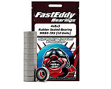 FastEddy Bearings - 4x8x3 Rubber Sealed Bearing, MR84-2RS (10)