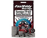 FastEddy Bearings - Rubber Sealed Bearing Kit: Tamiya TT-02 Chassis