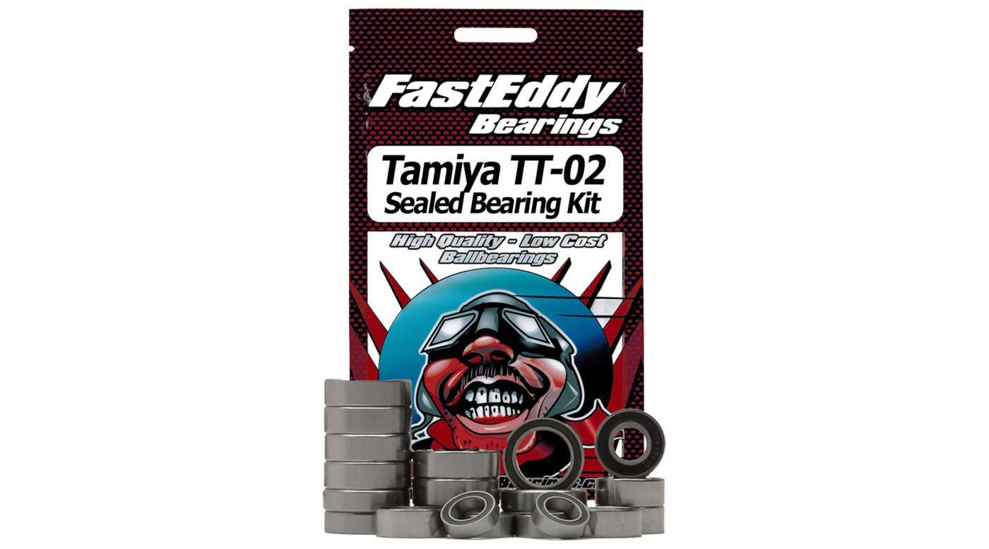 Image for Rubber Sealed Bearing Kit: Tamiya TT-02 Chassis from HorizonHobby