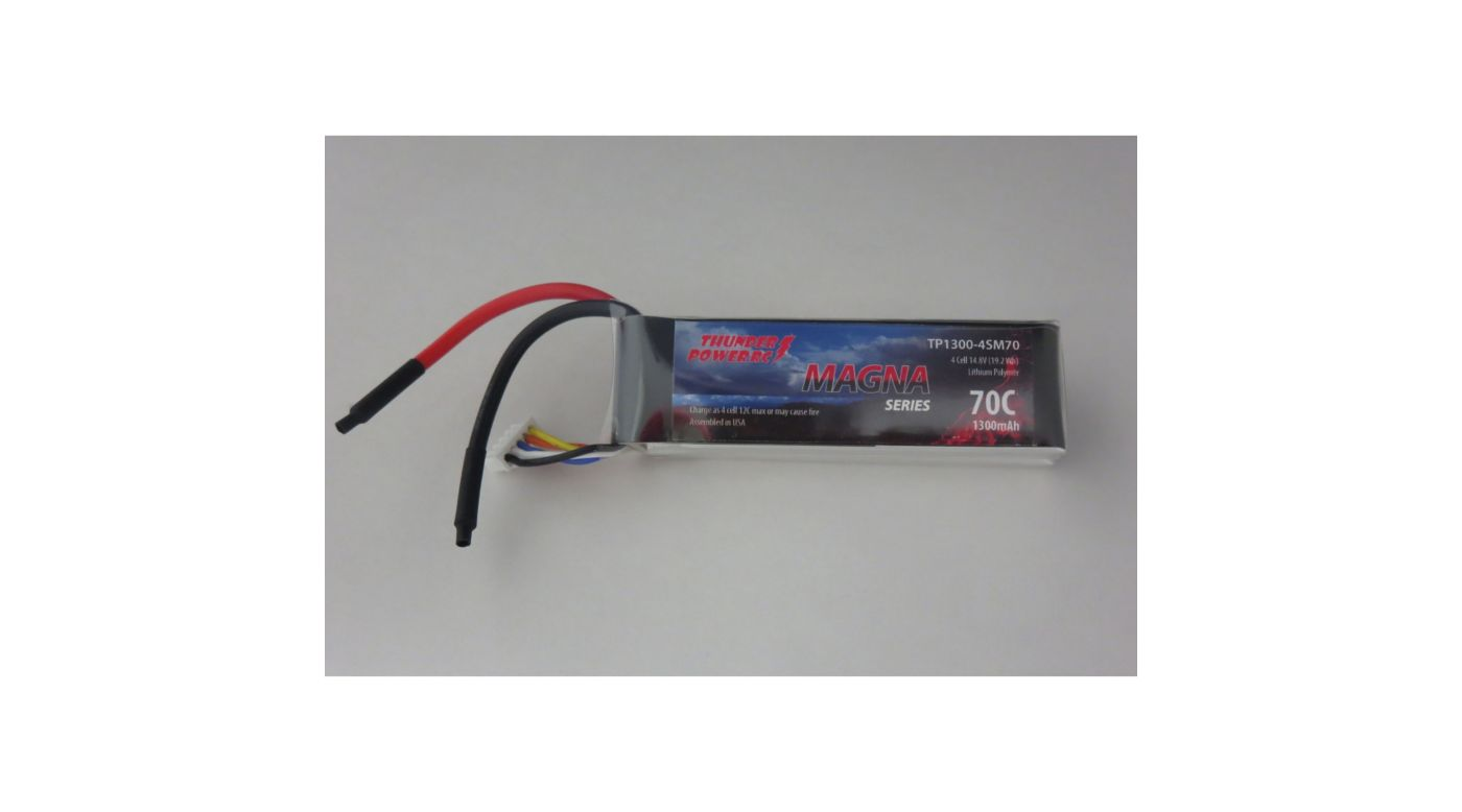 Image for Magna Series 1300mAh 4S 14.8V 70C LiPo from HorizonHobby
