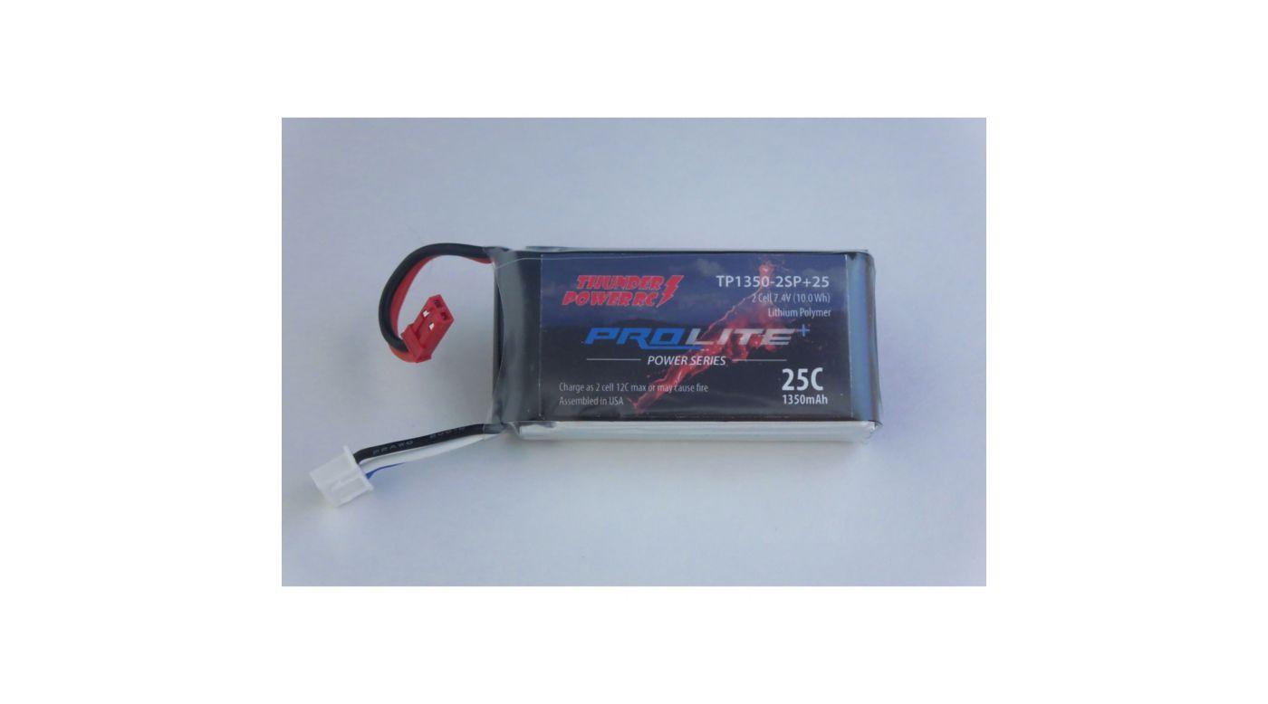 Image for 1350mAh 2S 7.4V G8 Pro Lite+ 25C LiPo, JST from HorizonHobby