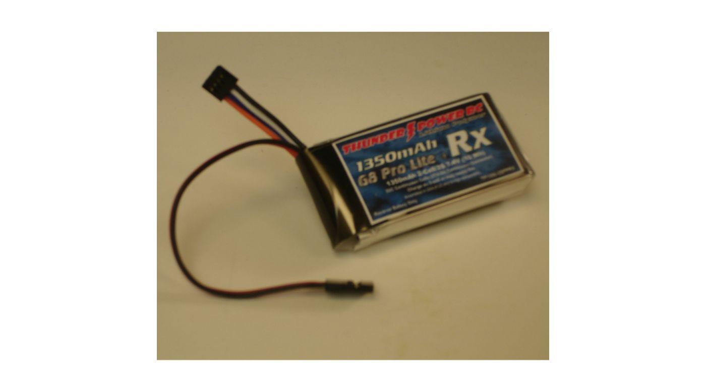 Image for 1350mAh 2S 7.4V G8 Pro Lite+ Rx LiPo from HorizonHobby