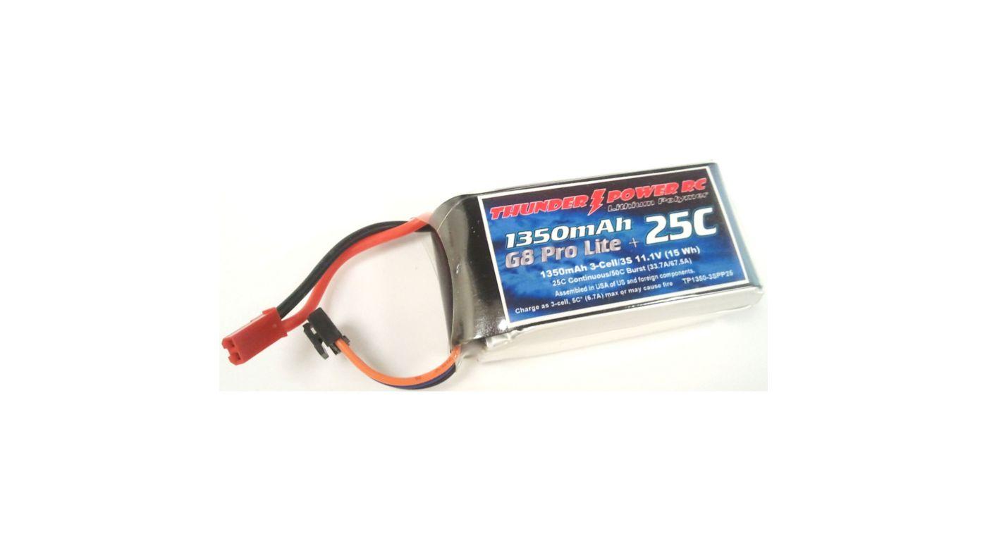 Image for 1350mAh 3S 11.1V G8 Pro Lite+ 25C LiPo, JST from HorizonHobby