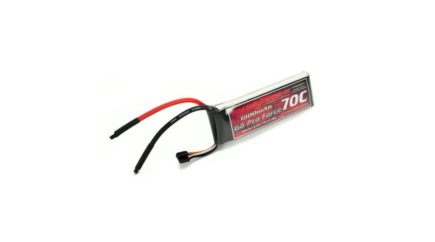 Image for 1800mAh 2S 7.4V G8 Pro Force 70C LiPo from HorizonHobby