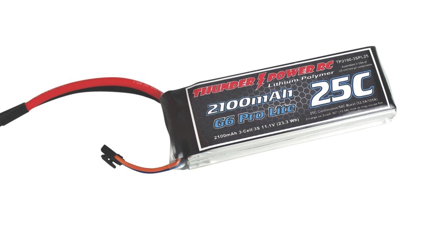 Image for 2100mAh 3S 11.1V G6 Pro Lite 25C LiPo from HorizonHobby