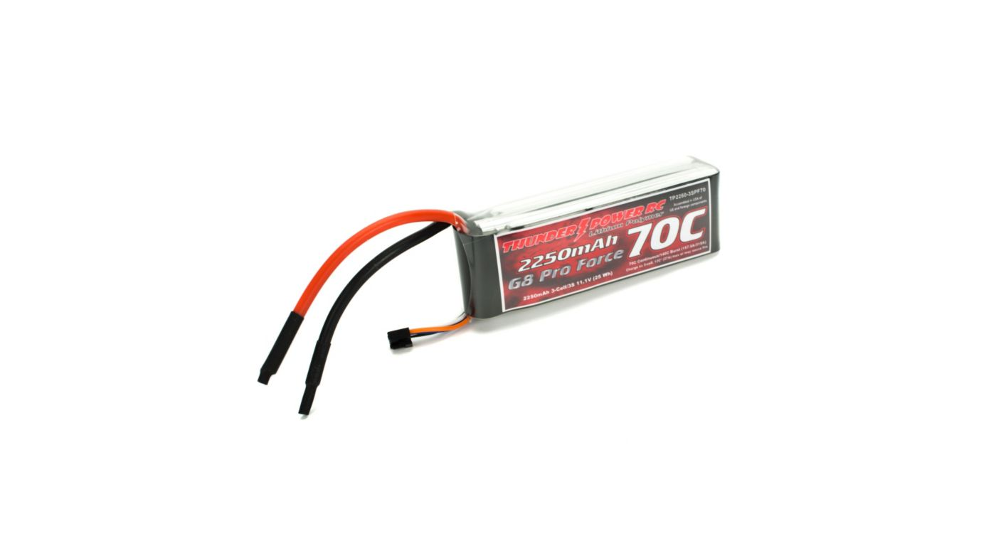 Image for 2250mAh 3S 11.1V G8 Pro Force 70C LiPo from HorizonHobby