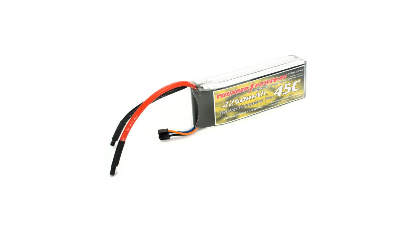 Image for 2250mAh 3S 11.1V G8 Performance Pro 45C LiPo from HorizonHobby