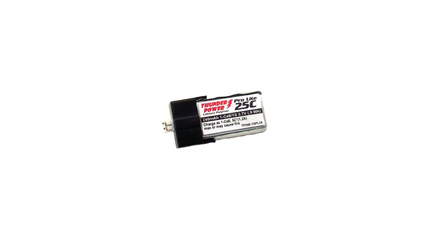 Image for G6 Pro Lite 240mAh 1S 3.7V 25C LiPo Battery, Ultra-Micro from HorizonHobby