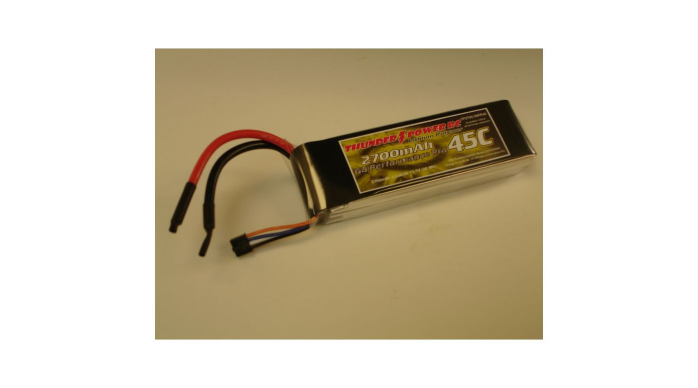 Image for 2700mAh 3S 11.1V G8 Performance Pro 45C LiPo from HorizonHobby