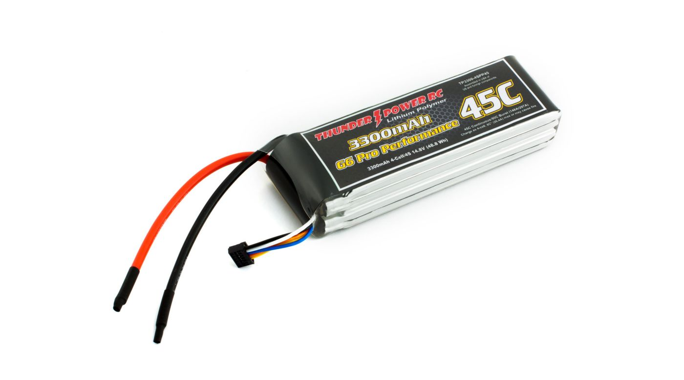 Image for 3300mAh 4S 14.8V G6 Pro Performance 45C LiPo from HorizonHobby