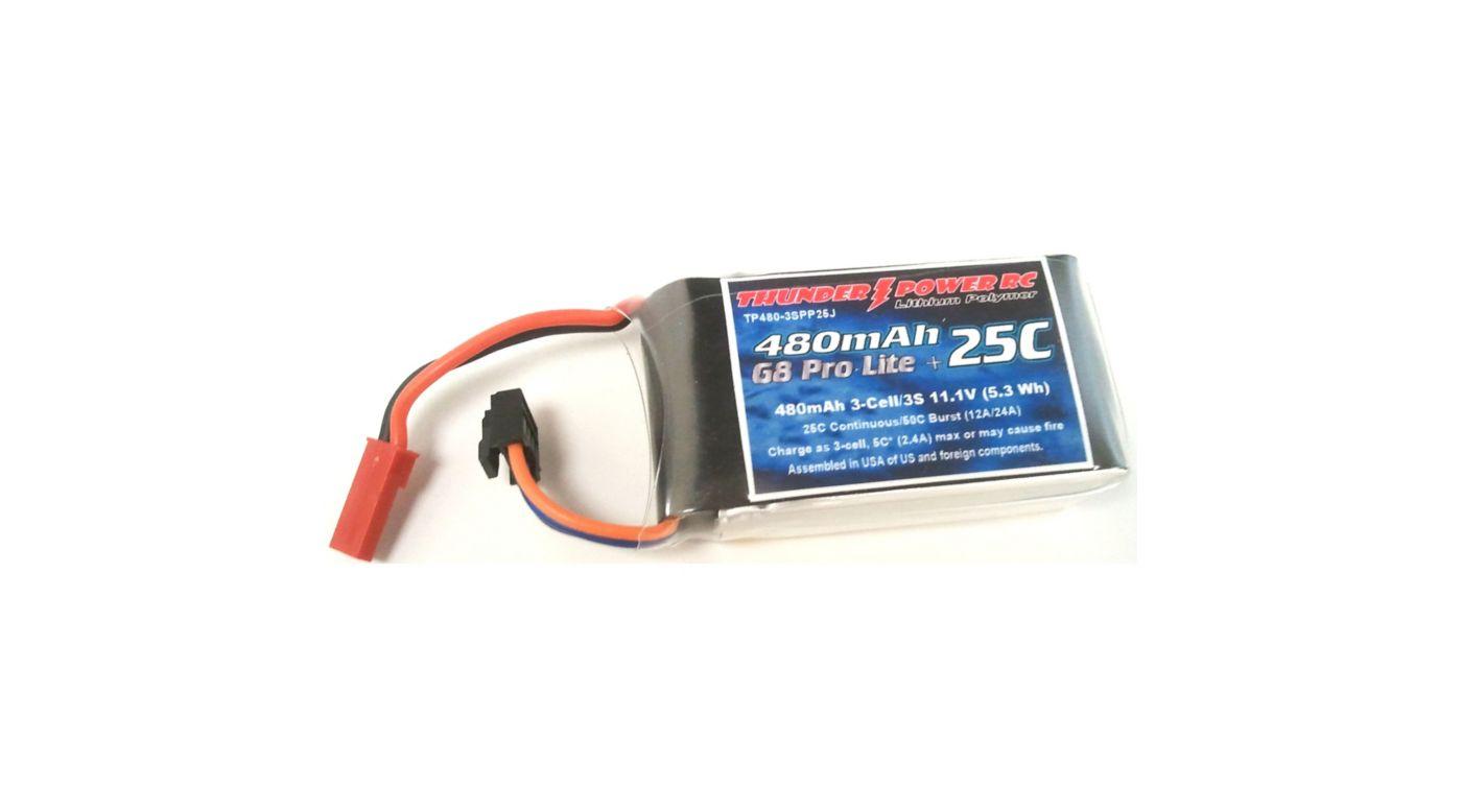 Image for 480mAh 3S 11.1V G8 Pro Lite+ 25C LiPo, JST from HorizonHobby