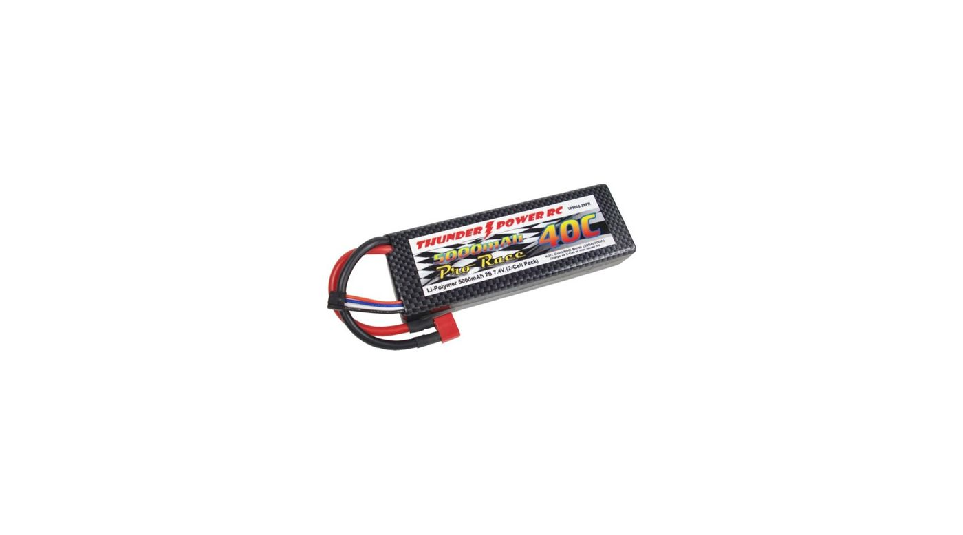 Image for 5000mAh 2S 7.4V Pro Race 40C LiPo w/Case, Deans from HorizonHobby
