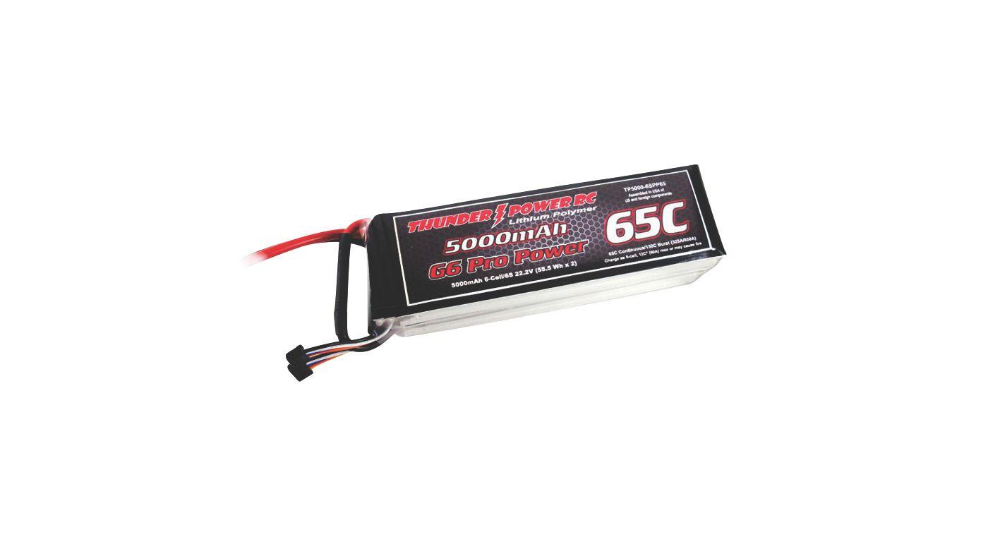 Image for 5000mAh 6S 22.2V G6 Pro Power 65C LiPo from HorizonHobby