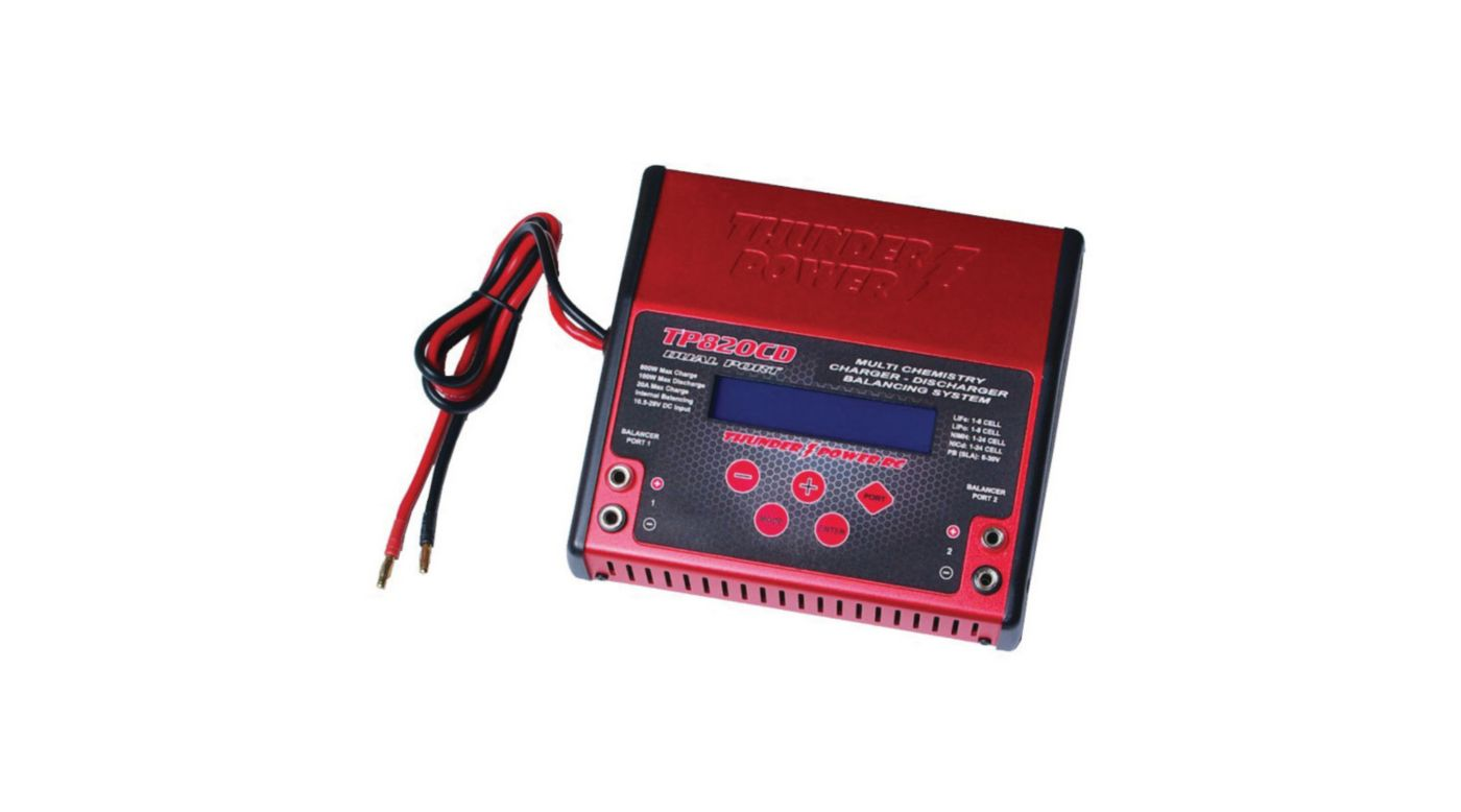 Image for TP820CD 1-8 Cell LiPo,20A Dual DC Charger from HorizonHobby