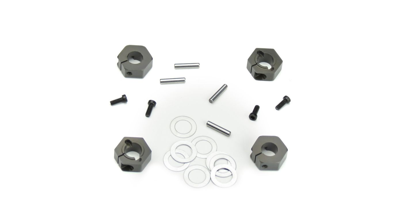 Image for 12mm Aluminum Hex Adapters for M6 Driveshafts from HorizonHobby
