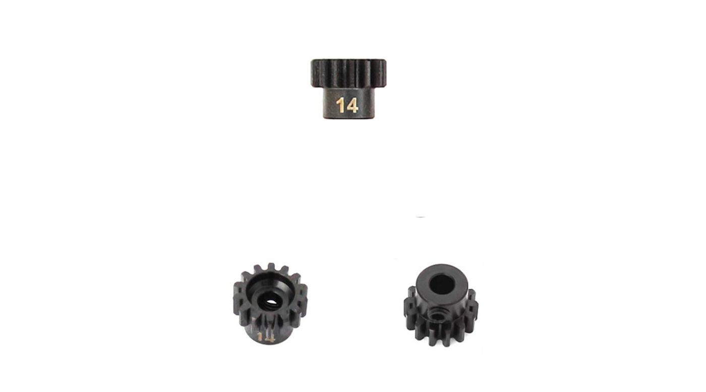 Image for M5 Pinion Gear, 14T,  MOD1, 5mm Bore, M5 Set Screw from HorizonHobby