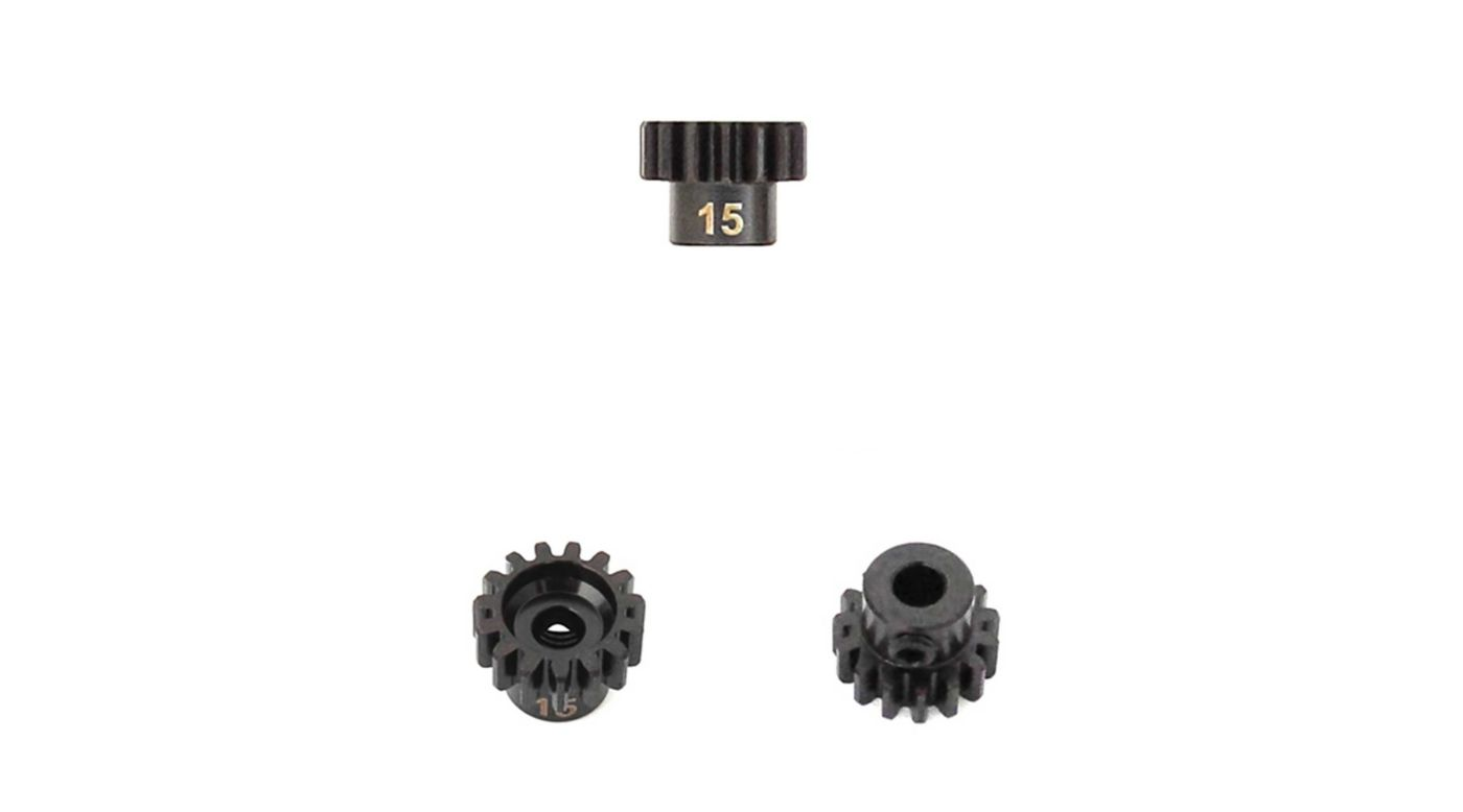 Image for M5 Pinion Gear, 15T,  MOD1, 5mm Bore, M5 Set Screw from HorizonHobby