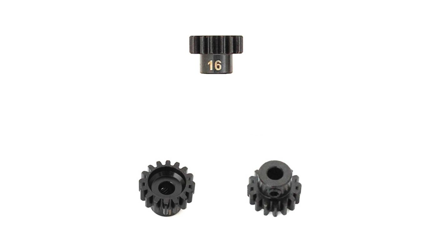 Image for M5 Pinion Gear, 16T,  MOD1, 5mm Bore, M5 Set Screw from HorizonHobby
