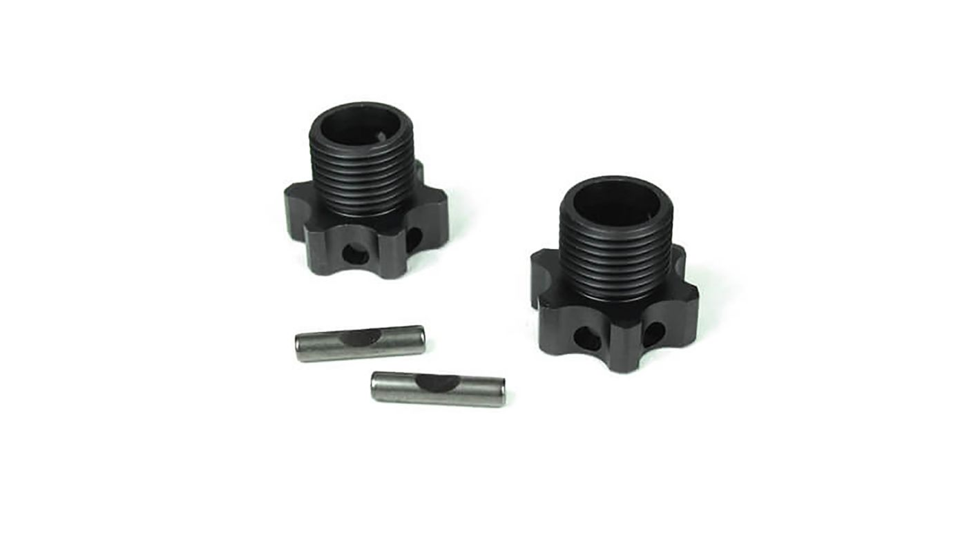 Image for Wheel Hubs Aluminum 2mm Offset with Pins (2): EB48 from HorizonHobby