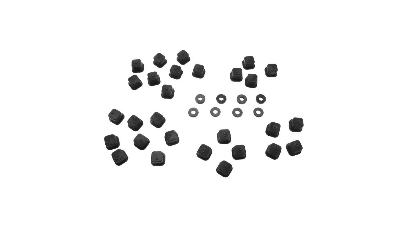 Image for V2 Hinge Pin Inserts, Wheelbase Shims:  EB/ET/NT/SCT from HorizonHobby
