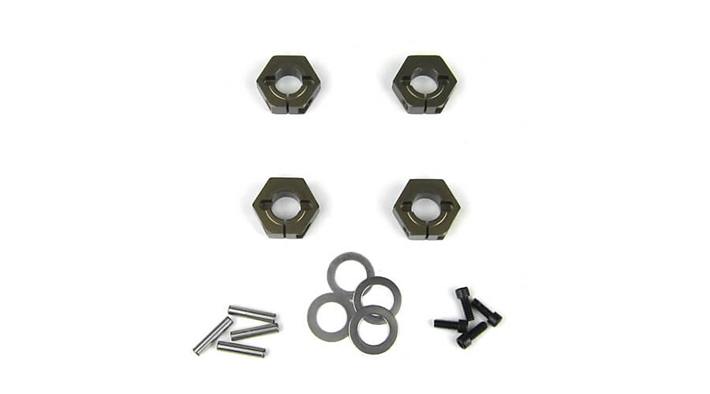 Image for Wheel Hexes 12mm Aluminum (4): SCT410 from HorizonHobby