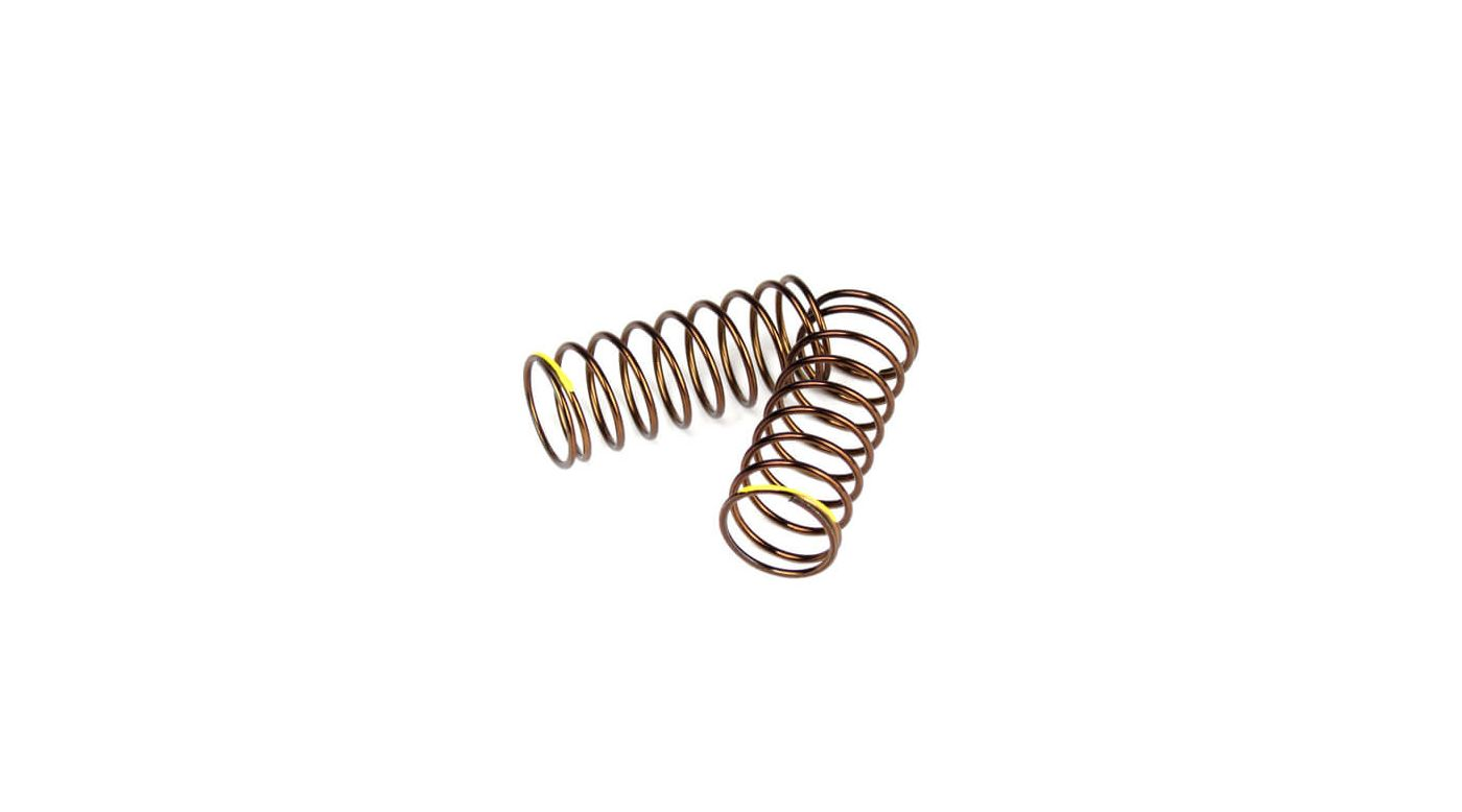 Image for Shock Spring Set Fr 1.4x9.375 4.00lb in 50mm, Yellow from HorizonHobby