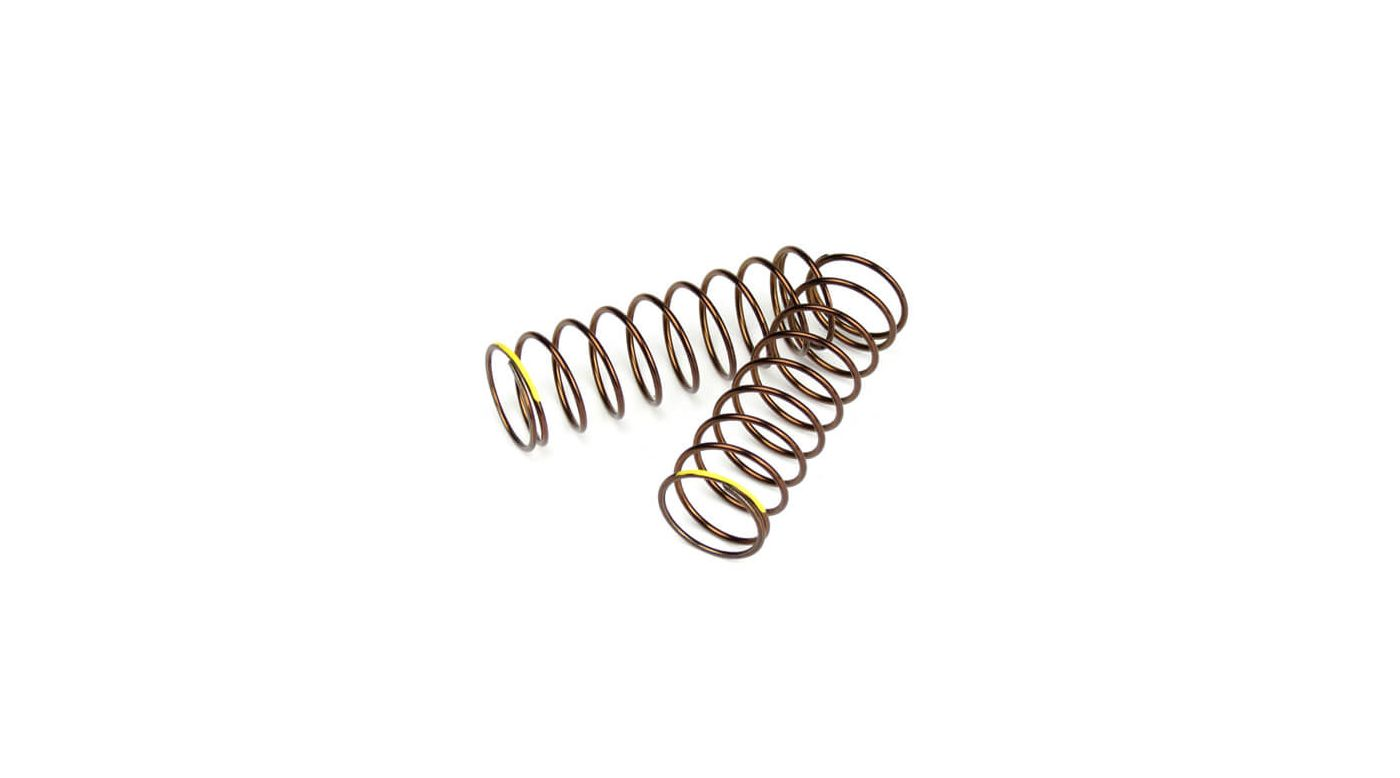 Image for Shock Spring Set Rr 1.3x9.875 2.82lb in 63mm, Yellow from HorizonHobby