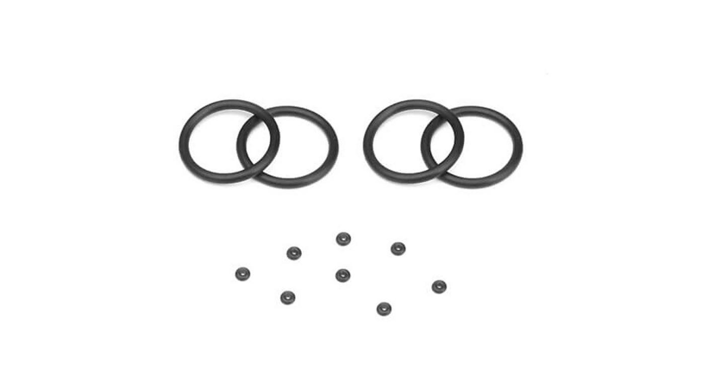 Image for Emulsion O-ring Set (4 Cap Seals, 8 Emulsion Screw O-Rings) for TKR8702 Shock Cap from HorizonHobby