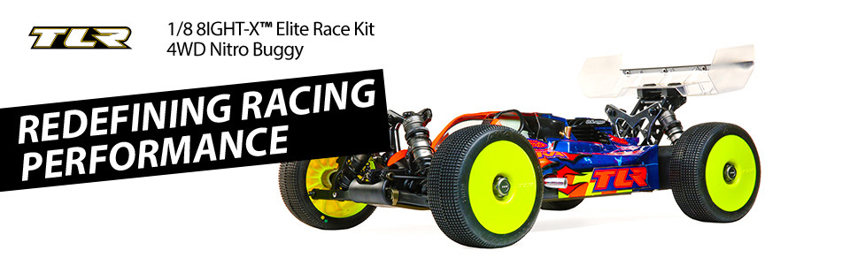 TLR 8IGHT-X Elite Race Kit: 1/8 4WD Nitro Buggy