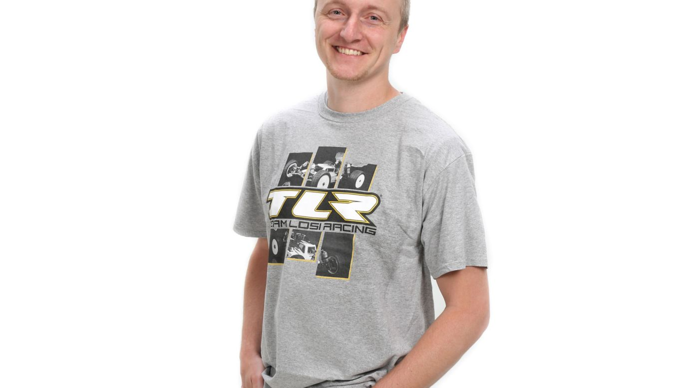 Image for TLR 4.0 Grey T-Shirt Large from HorizonHobby